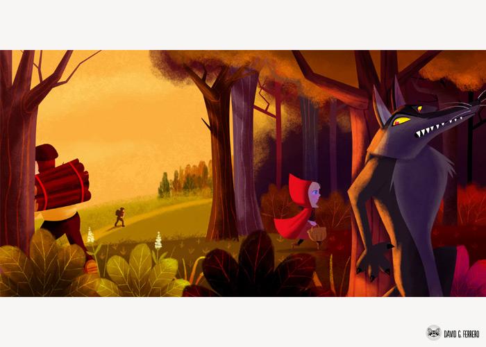 Caperucita Roja, el Lobo Feroz y el Gato con Botas