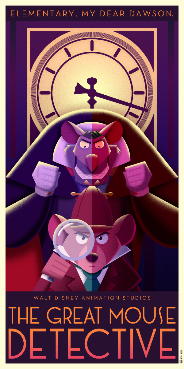 Disney Art Déco posters